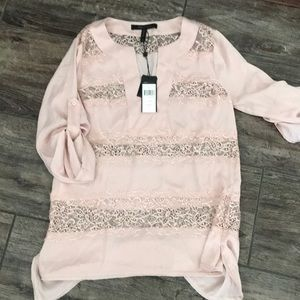 BCBG blush pink blouse